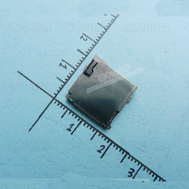 2000pcs - 5000pcs TF Self Spring Card Socket External Welding Memory Card Set Plastic Tray Tape Reel Packaging Optional