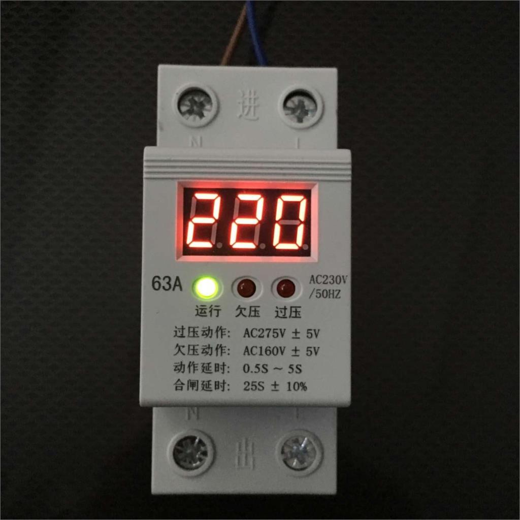 Full automatic time delay protector for self recovery overvoltage protector of self dual overvoltage protector