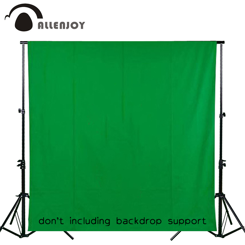 цена на Allenjoy photography backdrops Green screen hromakey background chromakey non-woven fabric Professional for Photo Studio