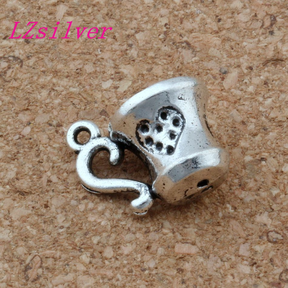 100pcs Antique Silver zinc alloy 3D Magical cup Charm pendants DIY Jewelry 9.5x15mm A-134