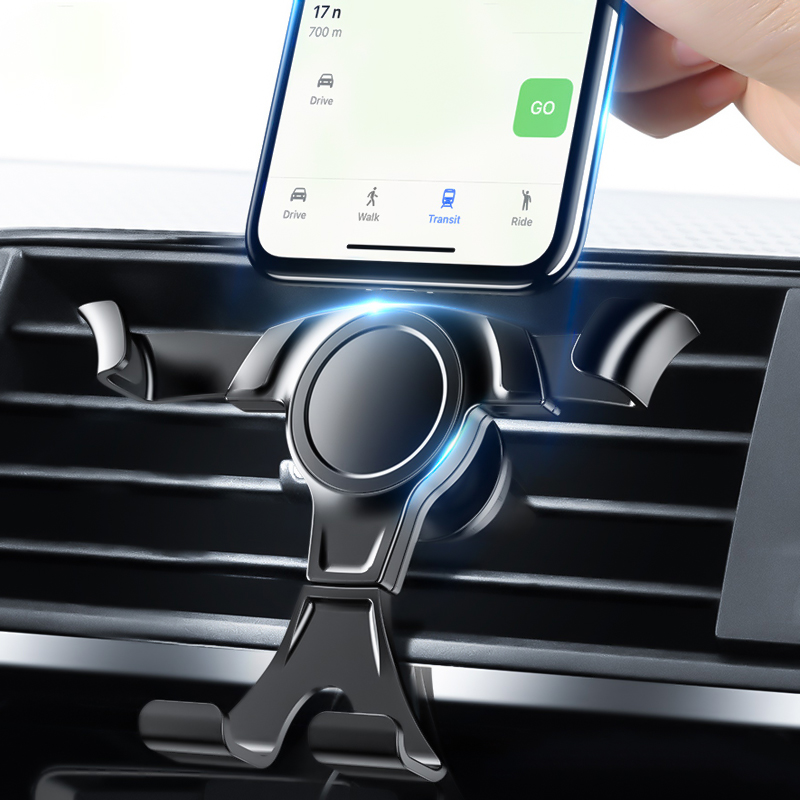 Car Phone Holder For Phone In Car Air Vent Grip Mount Auto Stand No Magnetic Mobile Holder For IPhone Smartphone Gravity Holders
