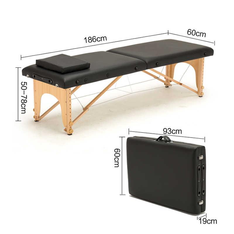 Профессиональная Массажная складная кровать для пляжа кемпинга портативные деревянные кровати складные ширина 60 длина 185 Araba Ici Yatak с сумкой