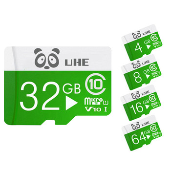 Green microsd card 32gb 64gb memory cards high quality Class10 tarjeta micro sd 4GB 8GB 16G flash tf carte for Smartphone Tablet image