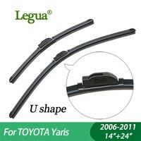 1 Set Wiper Blades For Toyota Yaris 2006 2011 14 24 Car Wiper Boneless Windscreen Car