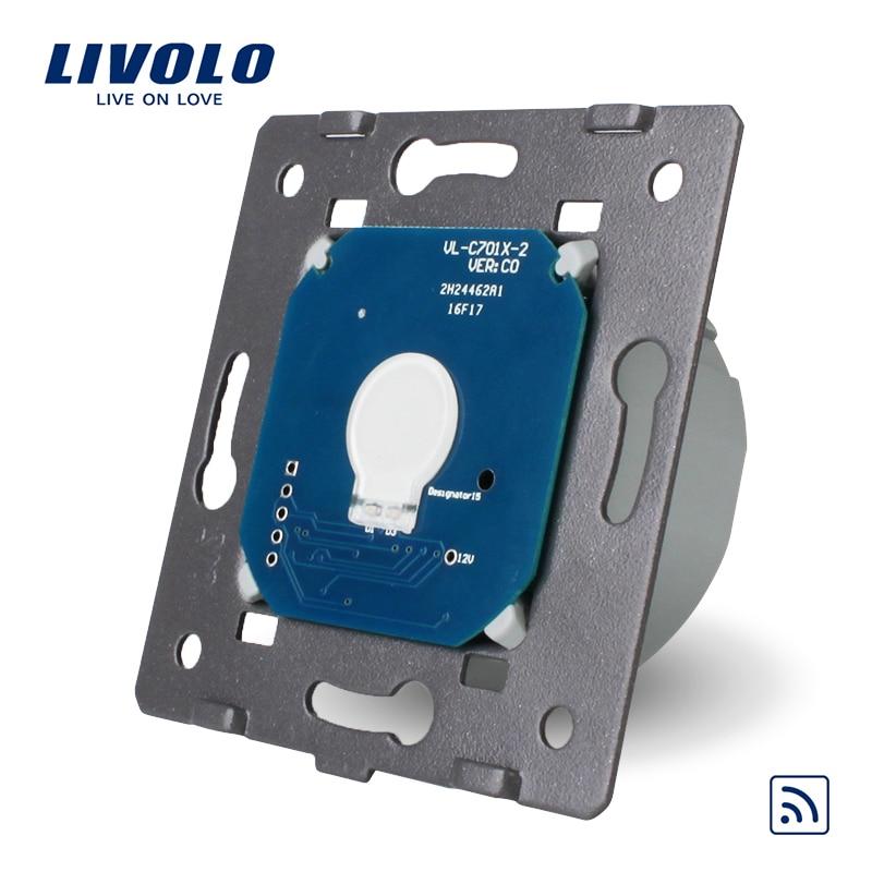 Livolo Standard UE Interruttore A Distanza Senza Pannello di Vetro, AC 220 ~ 250 v Luce Della Parete di Telecomando e Interruttore di Tocco, VL-C701R