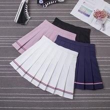 Спортивная теннисная юбка для девочек плиссированная Полосатая