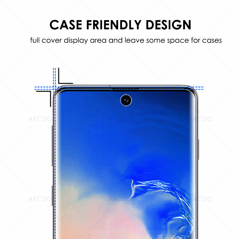 Image 3 - 10D Akcoo Note 10 UV Glass Screen Protector with FINGERPRINT UNLOCK for Samsung Galaxy Note 10  S10 Plus S8 9 5G glass film-in Phone Screen Protectors from Cellphones & Telecommunications on
