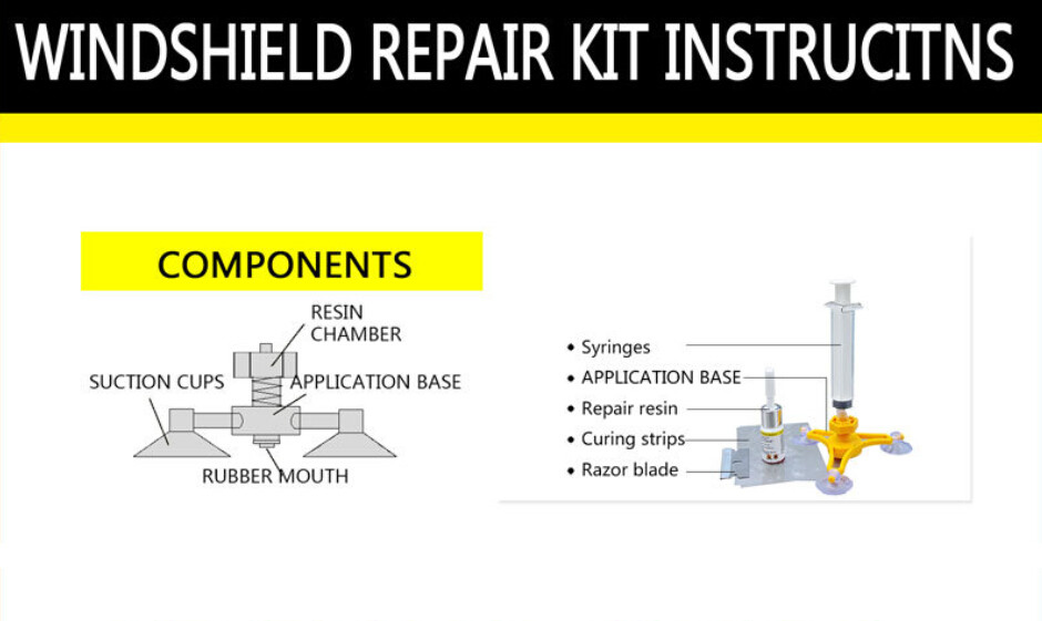 Car Windshield Repair Kit Tools Auto Glass Windscreen Repair Tool Give Door Handle Protective Decorative