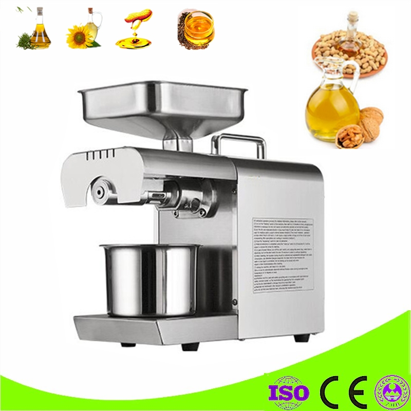 220V Home Use Mini Oil press Machine Pinenut, Cocoa Soy Bean Oil press Machine High Oil Extraction Rate brand new 220v heat and cold home oil press machine peanut cocoa soy bean oil press machine high oil extraction rate