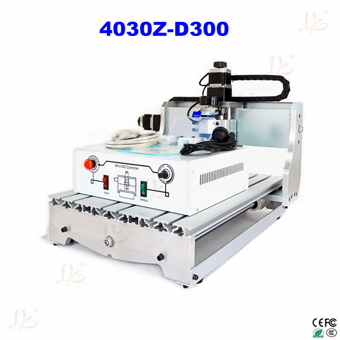 4030Z-D300 3axis CNC engraving milling and drilling machine mini cnc router cnc 5axis a aixs rotary axis t chuck type for cnc router cnc milling machine best quality