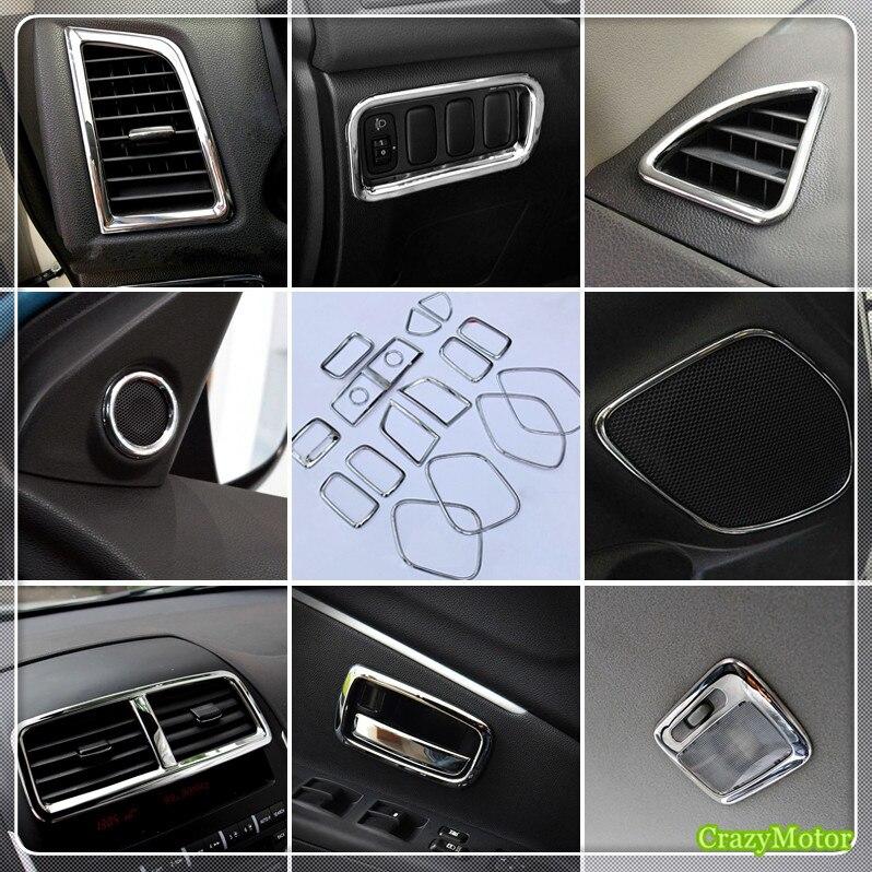 For Peugeot 4008 2012 2016 ABS Chrome Car Inner Air Vent