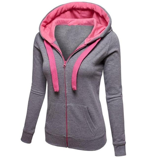 b9493a5cd68c5 BATTERLOVER Women Hoodies Zip-up Sweatshirt Womens Long Hooded Girls  Sweatshirts Coat Casual Outerwear Tops