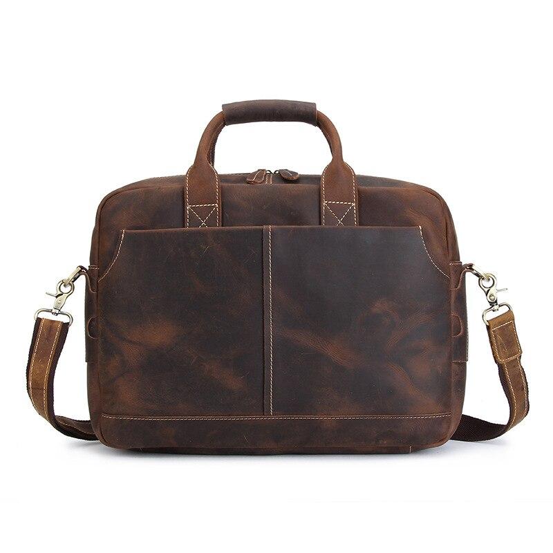 BJYL Ретро crazy horse кожа для мужчин's сумки первый слои кожа бизнес мужчин сумка для ноутбука сумочки через плечо по диагонали