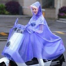 Women Biking Waterproof Raincoat 2019 Fashion Motorcycle Bicycle Rain coat Rainwear/Rainsuit EVA Polka Dot Waterproof RainCoat