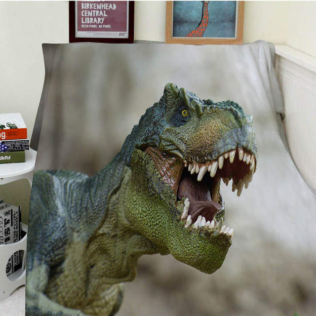 Blankets Cobertor Warmth Soft Plush Big Mouth Of The Dinosaurs Sofa Impressive Dinosaur Throw Blanket
