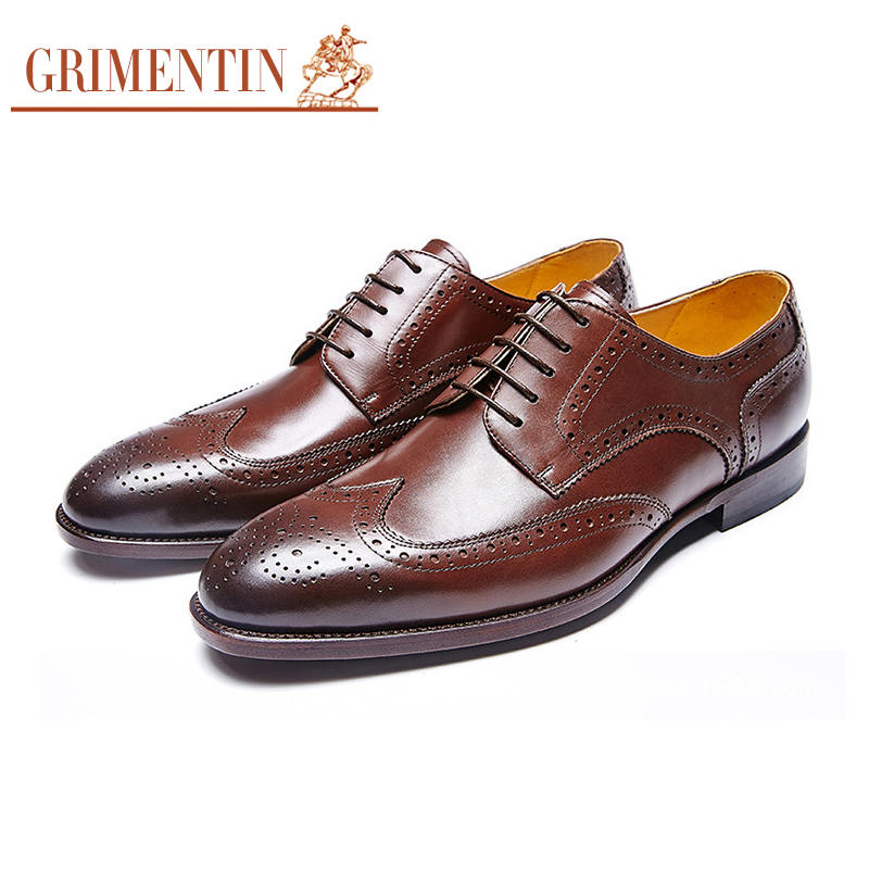 Kleid Grimentin brown Black ight Männer Handmade Geschnitzt Echtem Customized Schuhe Leder yellow Herren Retro Aus Oxfords Brownl 2018 tr6ntxawqP
