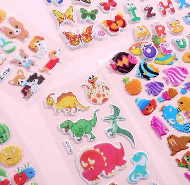 10 גיליונות/הרבה 3D נפוח בועת מדבקות קריקטורה נסיכת מכוניות חיות Waterpoof DIY תינוק צעצועים לילדים ילדים ילד ילדה GYH