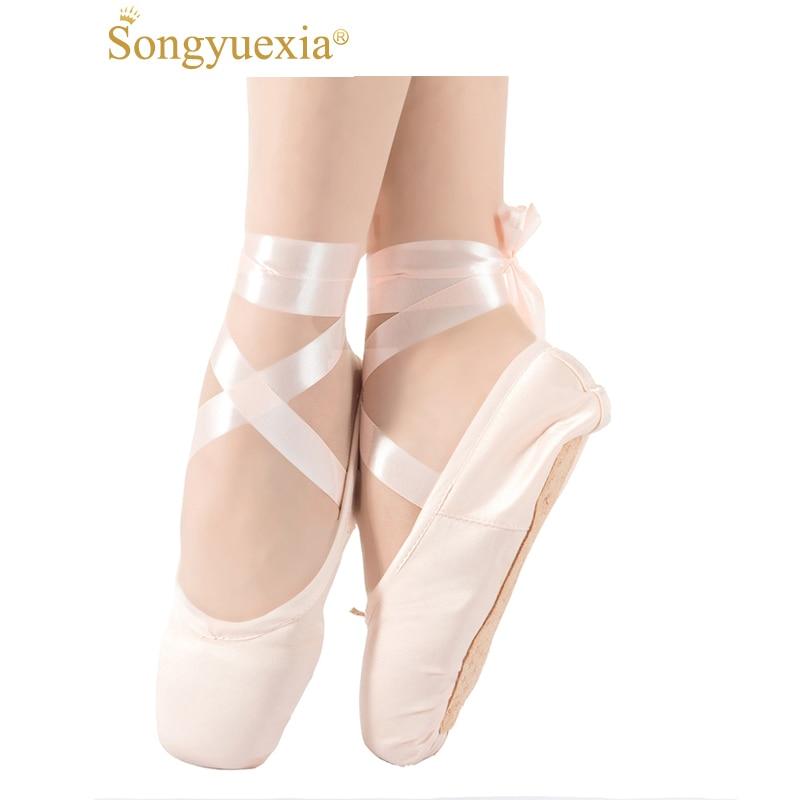 Classic Children Satin Face Hard Bottom Dance Shoe Adult Canvas Hard Bottom Toe Ballet Indoor Practice Shoe Ballet Dancing Shoe