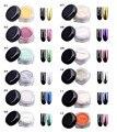 2g ESPEJO Holográfico Nail POLVO de UÑAS Esmalte de Uñas Nail Art Glitter Polvo De Cromo Reflejando Pigmento Paillettes Ongles de Manicura