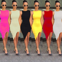 Women Summer Short Slim Mini Dress Cocktail Party Bodycon Sleeveless