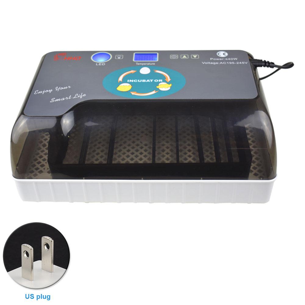 12 eier Incubadora Vogel Digitale Ei candlers Inkubator Hatcher Huhn Ente Automatische Drehen Led Gans Geflügel Maschine-in Futter- und Wasserversorgung aus Heim und Garten bei  Gruppe 1