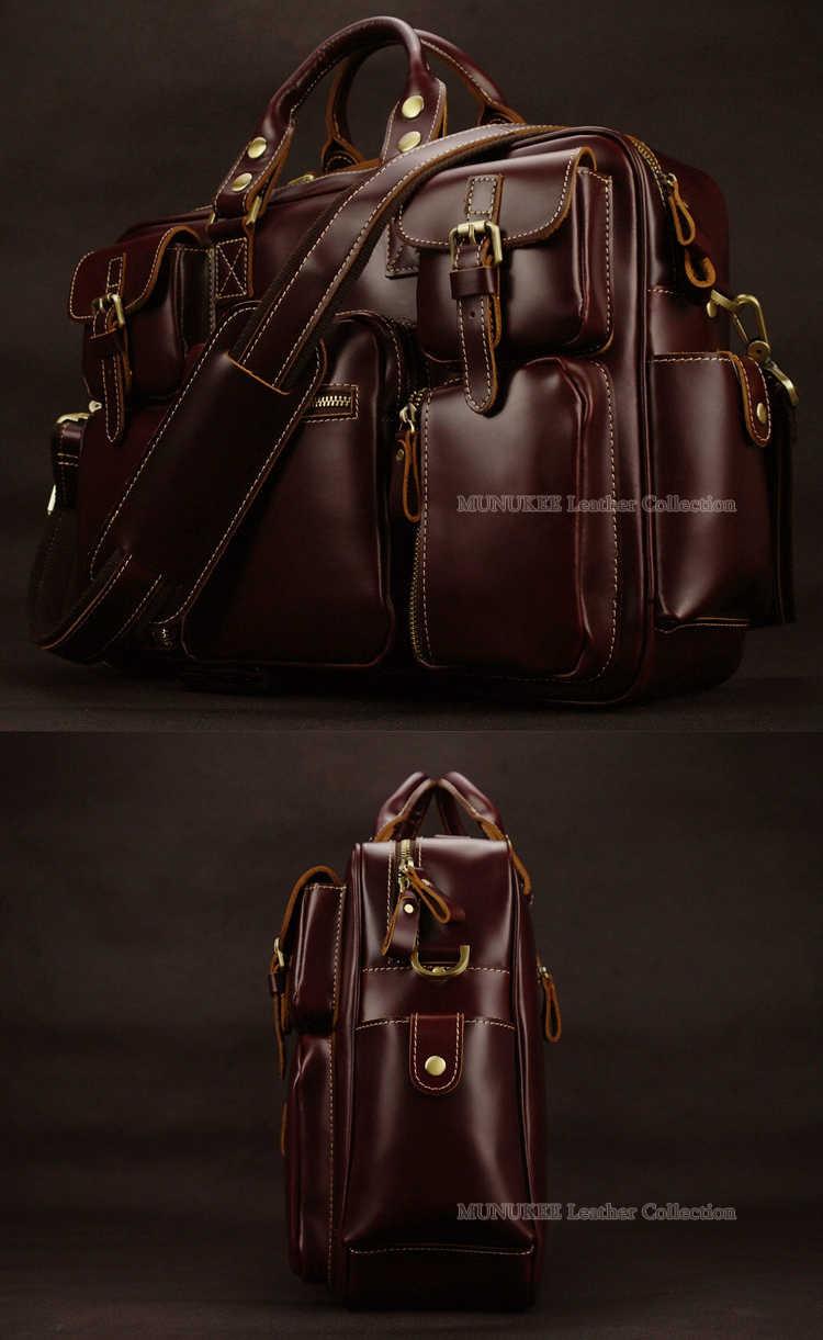 83772a58f350 ... Роскошная натуральная кожа Для мужчин, дорожная сумка, чемодан мешка  для сбора пыли большой Для ...