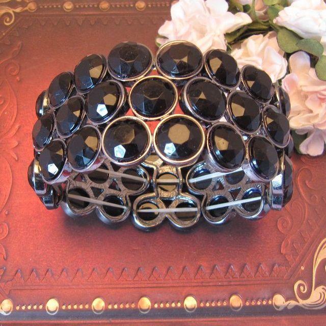 Free shipping  1 lot/10pcs Fashion Personality elastic bracelet fashion jewelry ornament CRYSTAL Alloy  wholesales bracelet