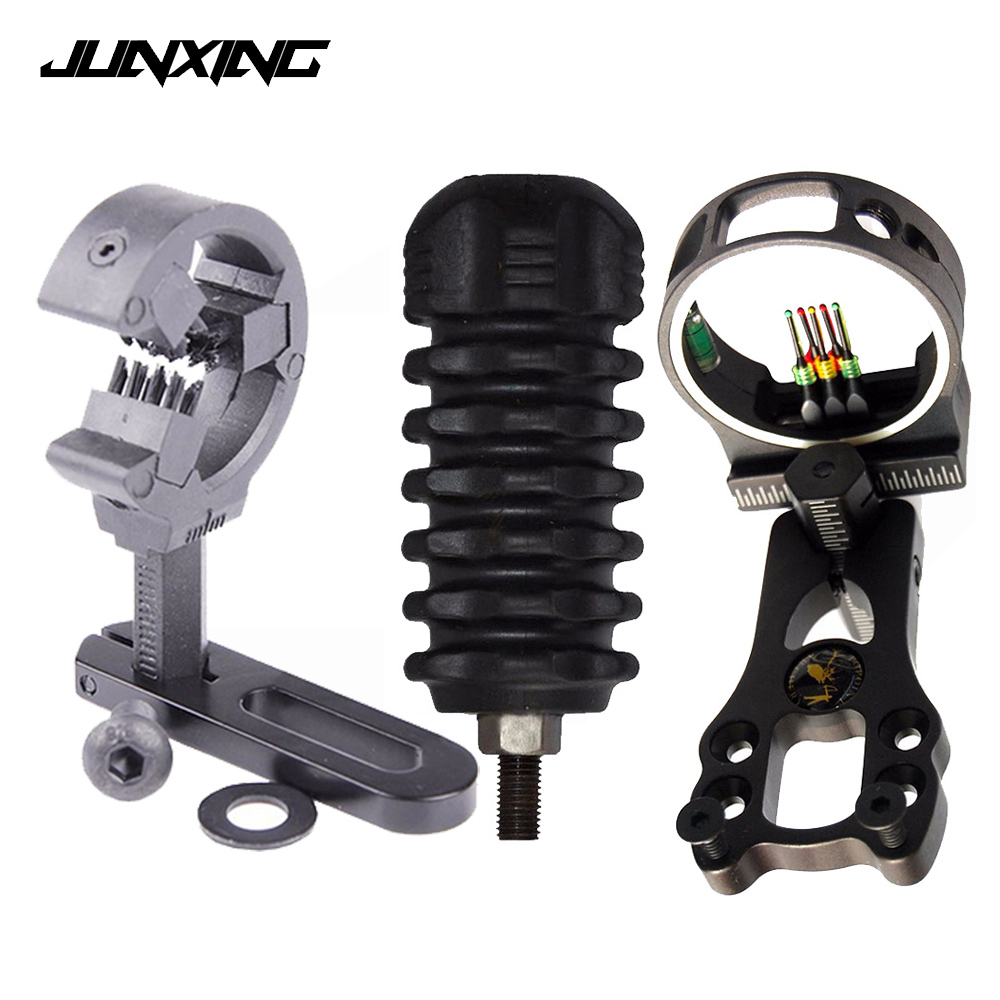 Hunting Compound Bow Sight Kit Arrow Rest Rubber Stabilizer Peep Sight Bow Sling Wax D Loophunting Shooting Accessories For Compound Bow Bow & Arrow