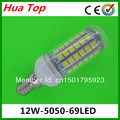 Hot sale 10pcs  lampada Mini E14 5050 69 epistar LED Lamp 12W LED Corn Bulb 1100LM Cold white / Warm White lamps free delivery
