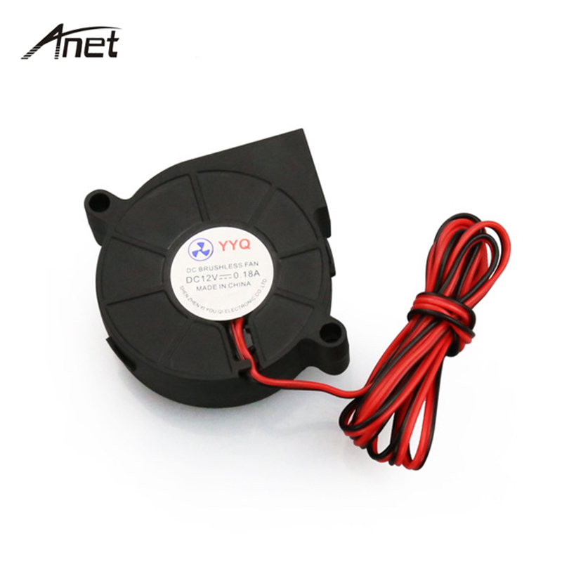 Anet 5pcs lot 5015 Cooling Fan Blower Turbo Fan 3D Printer Parts DC 12V 50x50x15mm Blower