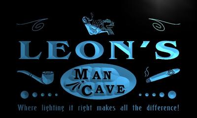 x0161-tm Leons Man Cave Cigar Bar Custom Personalized Name Neon Sign Wholesale Dropshipping On/Off Switch 7 Colors DHL