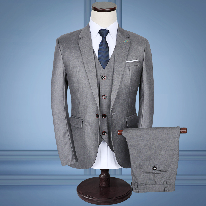 CCXO High Quality Light Grey Men Suits Wedding Business Blazer Slim ...