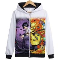 Japonya SıCAK NARUTO Uzumaki Naruto Hatake Kakashi Uchiha Sasuke Ceket Unisex İskelet Fermuar Hoodies Anime Cosplay Kostümleri