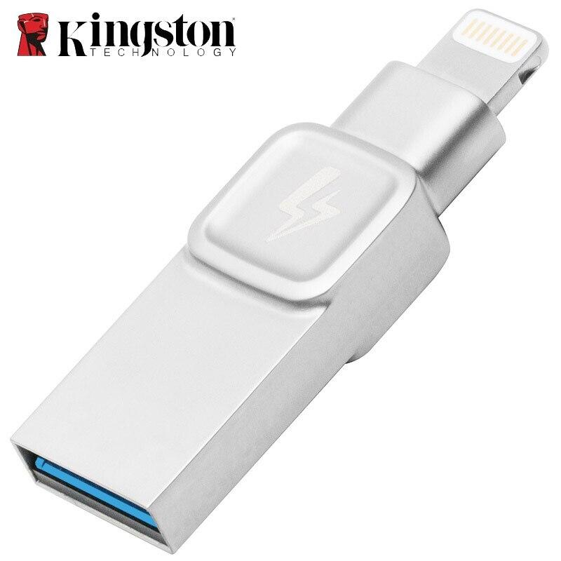 Kingston Metal USB Flash Drive 32gb 64gb 128gb Pendrive Memory Stick Professional Creativos Cle Usb for iphone Flash Drive ipad-in USB Flash Drives from Computer & Office    1