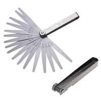 23pcs Spring Steel Metric System Ruler Blade Gage Master Feeler Gap Filler Thickness Physical Measurement Tool