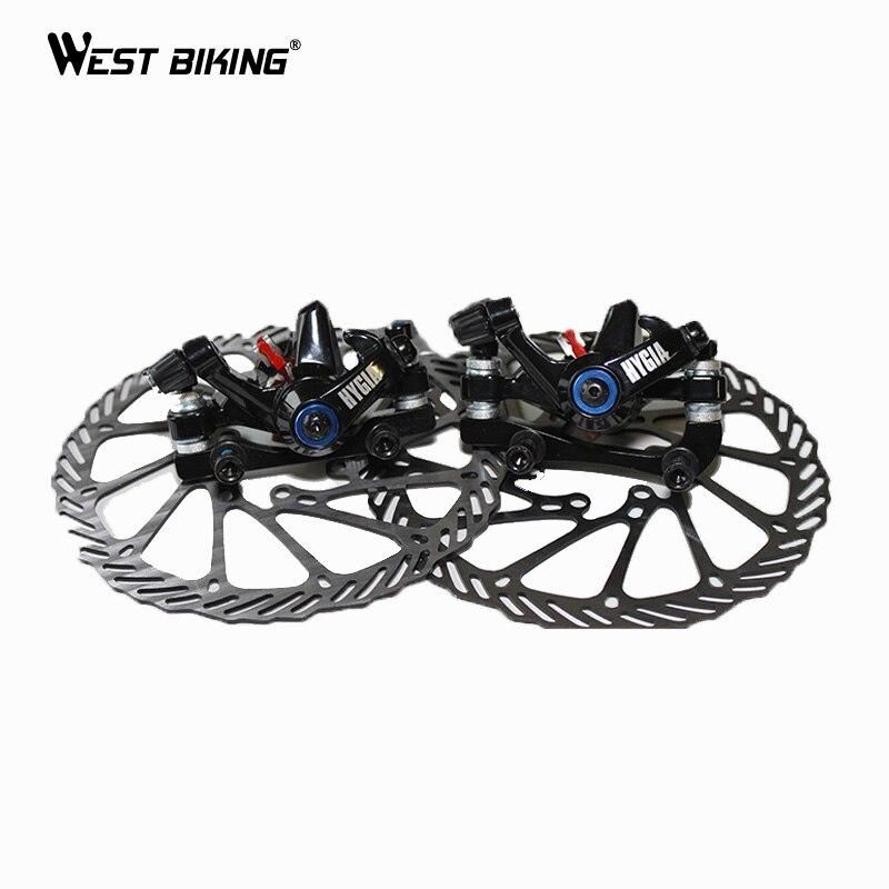 WEST BIKING Bicycle Disc Brake Mountain Bike Front and Rear Disc Brakes+2 Disc Brakes Tablets+Screws Cycling Disc Brake