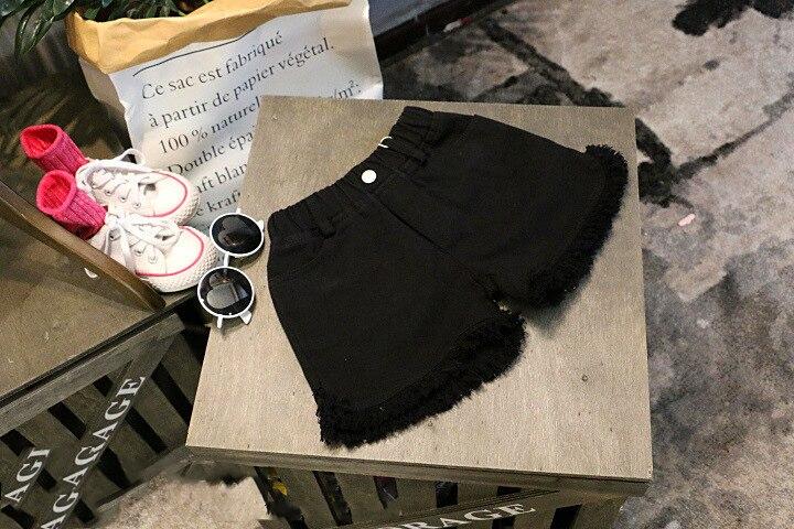 Детские джинсовые шорты для девочек модные из денима 2 цвета