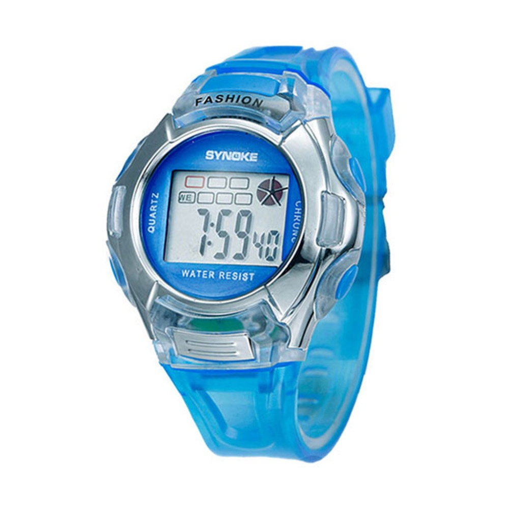 Retail Wholesales Electronic Child/Boy/Girl Sport Multifunction Waterproof Wrist Watch Digital