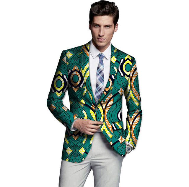7d4a6a4b86 US $37.34 25% OFF Handmade men dashiki blazers african print suit blazer  mens african suit jacket africa clothing for wedding -in Blazers from Men's  ...