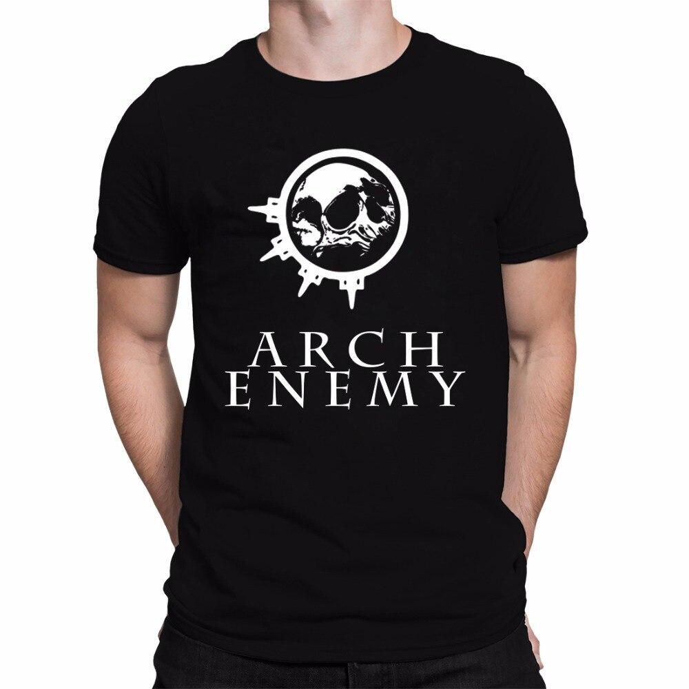 Rock Music Theme Arch Enemy Logo Mens Short Sleeve T Shirt Cotton