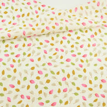 Lovely Leaf Designs 100% Cotton Light Yellow Fabric Plain Sewing Cloth Textile Art Work Patchwork Telas Tecido Tissue Doll's DIY(China)