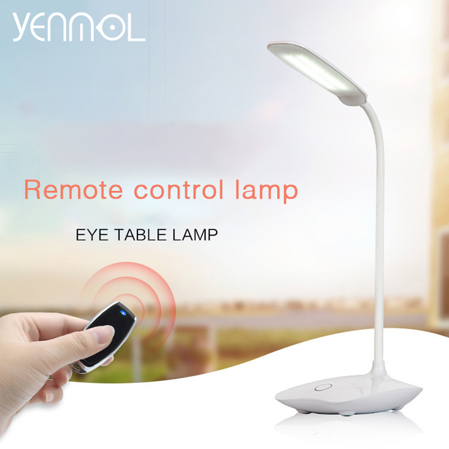 Yenmol led desk lamp remote control abs desk lights shadeless yenmol led desk lamp remote control abs desk lights shadeless desktops table lamps dimmable eyecare reading aloadofball Image collections