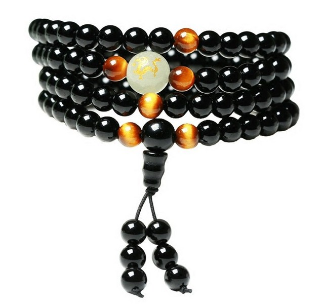 Onyx and Tiger's Eye Mala 1