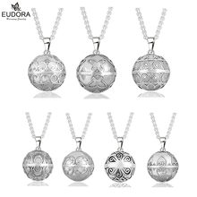 Angel Caller 20mm Antique Silver Carve Eudora Harmony Ball Ringing Chime Pendant Necklace Jewelry Pregnant Gift(China)