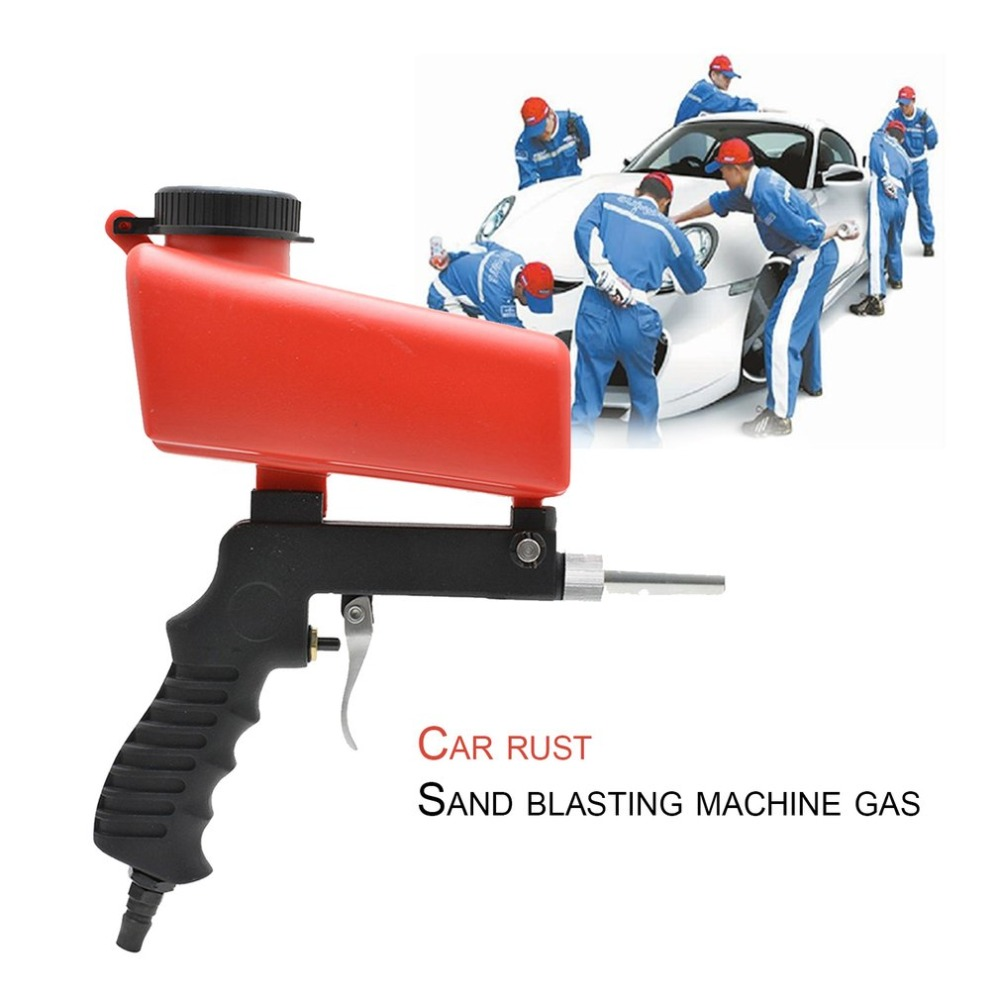 2018 Gravity Feed Portable Air Sandblast Sand Spray Gun Car Rust Remove Sandblaster Air Tools Car Paint Rust Removal Tool ...