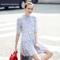 New Arrival Fashion Women Dress Vintage Summer Mini Dress Vestidos Office Dress A-line Slim Chiffon Dress