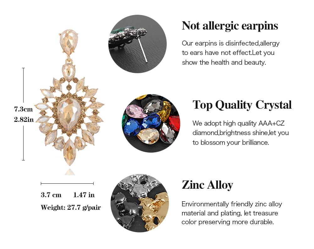 VEYO Crystal Earrings for Women Gift Luxury Drop Earrings New Arrival Wholesale 2