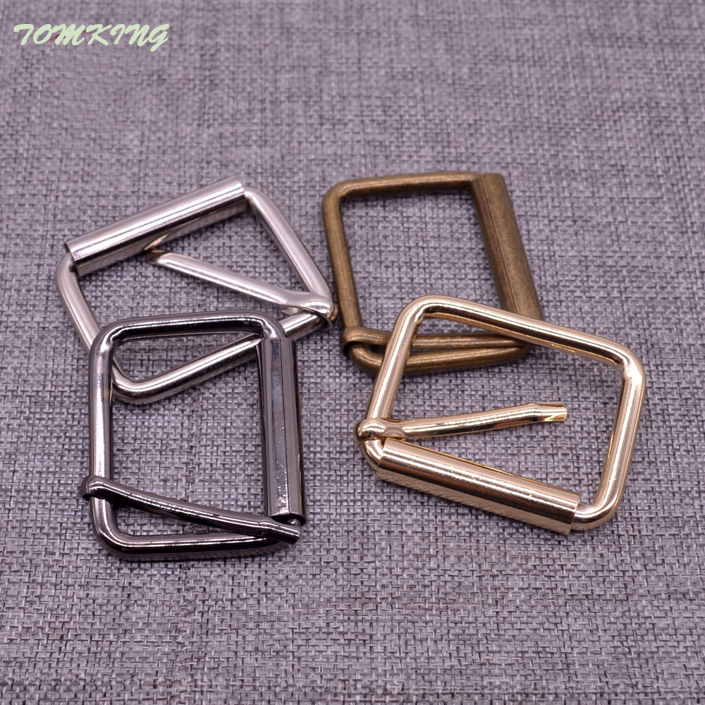 Hot 20pcs lot 10mm 13mm 20mm 25mm 32mm gold silver bronze Square metal shoes bag Belt Buckles decoration DIY Accessory Sewing in Buckles Hooks from Home Garden