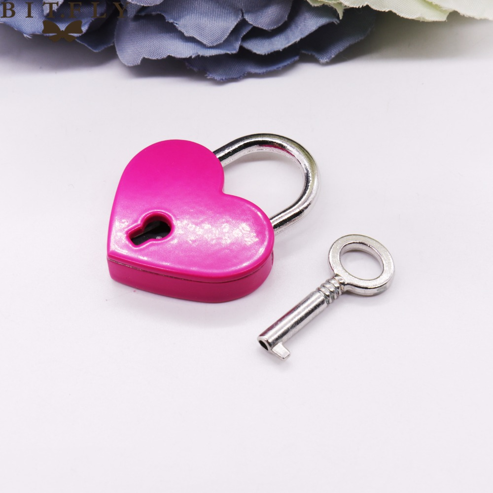 Mini Heart shape mini lock with KEY lovely wedding game props little gift for the guest beautiful wish lock DIY crafts supplies