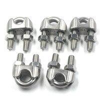 10mm di Diametro M10 In Acciaio Inox Resistente Wire Rope Clip Fascetta confezione da 5